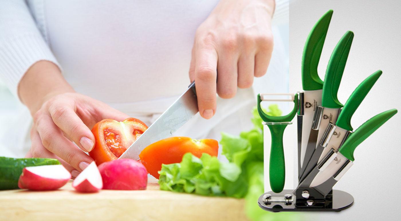 Profesionálna 4-dielna sada nožov so škrabkou