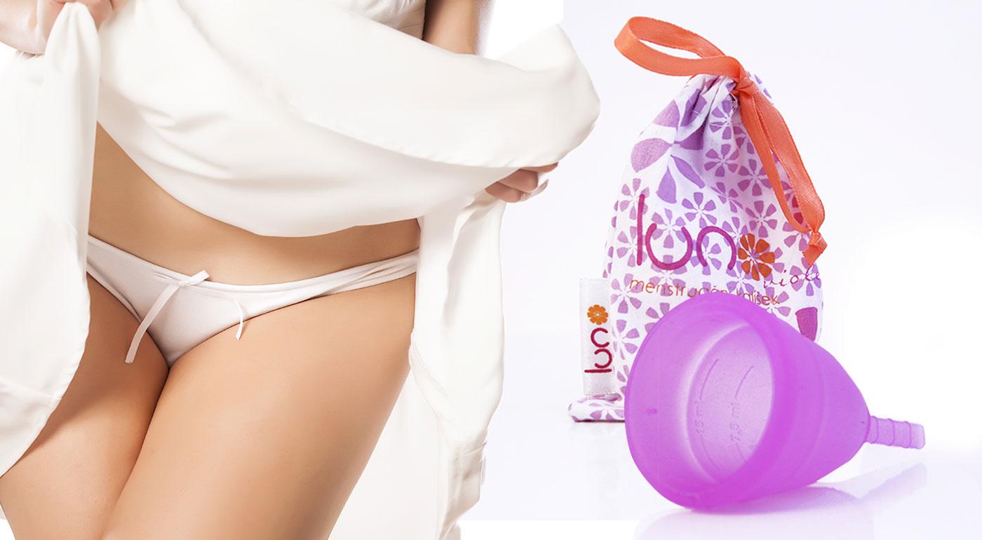 Revolučná dámska hygienická pomôcka - menštruačný kalíšok Luno a sterilizačný kelímok
