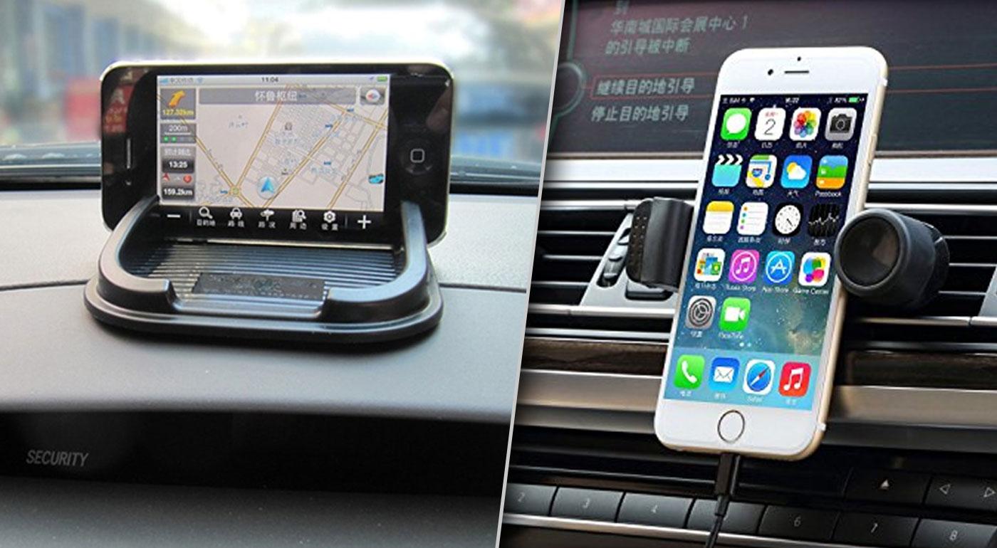 Univerzálny rotačný držiak na mobil alebo protišmyková podložka do auta
