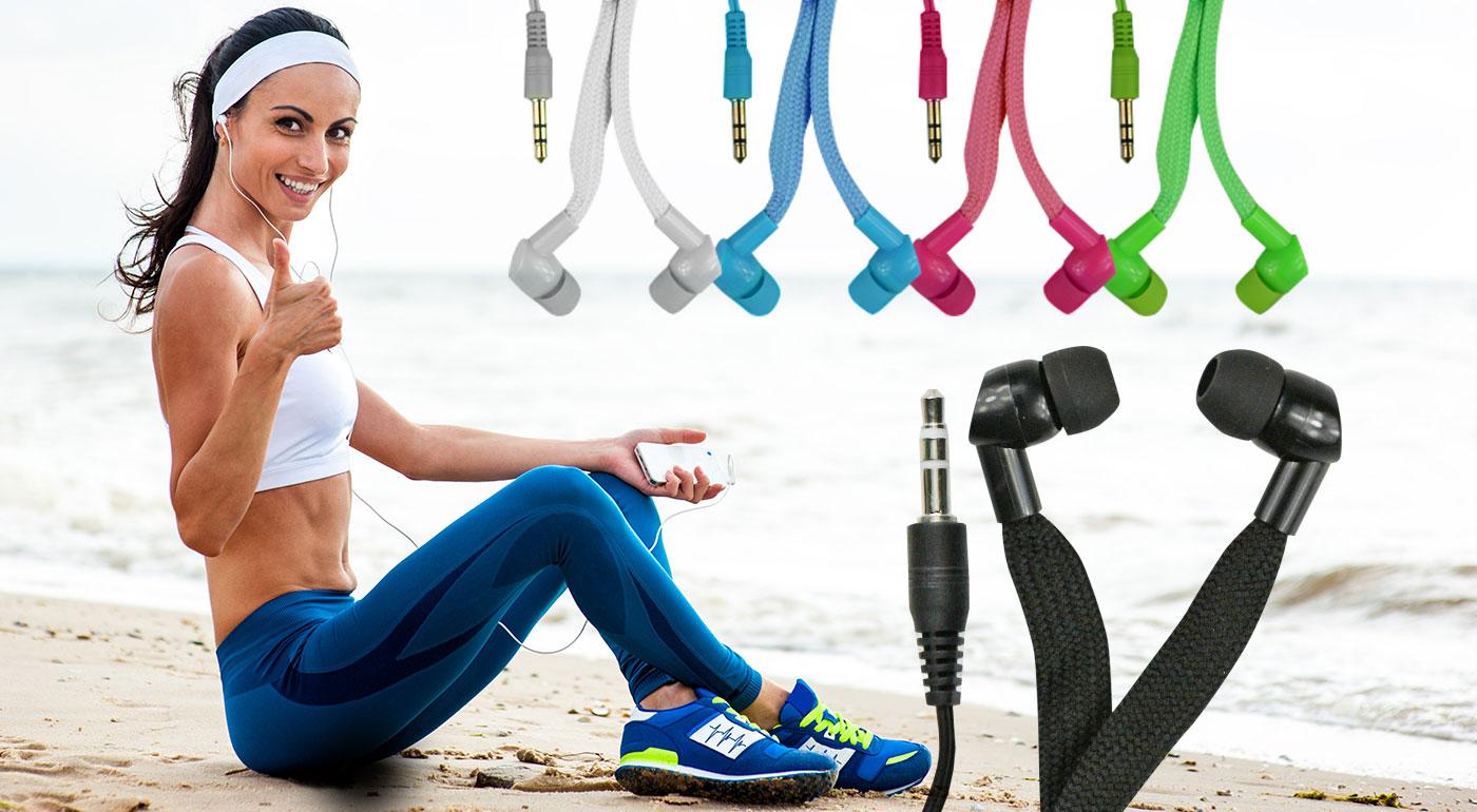 Štýlové šnúrkové slúchadlá do uší v 5-ich farbách