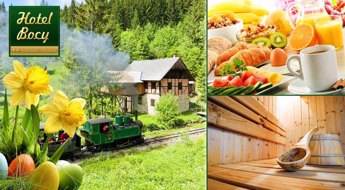 Fotka zľavy: Jarný pobyt na Kysuciach už od 32,90€! Užite si naplno 3 alebo 4 dni v Hoteli Bocy Veľká Rača - Oščadnica s raňajkami, fínskou saunou a biliardom. Dieťa do 12 rokov ubytovanie zadarmo!