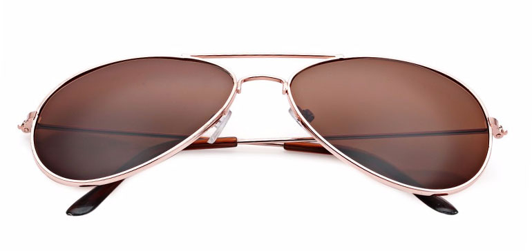Slnečné okuliare - zlaté