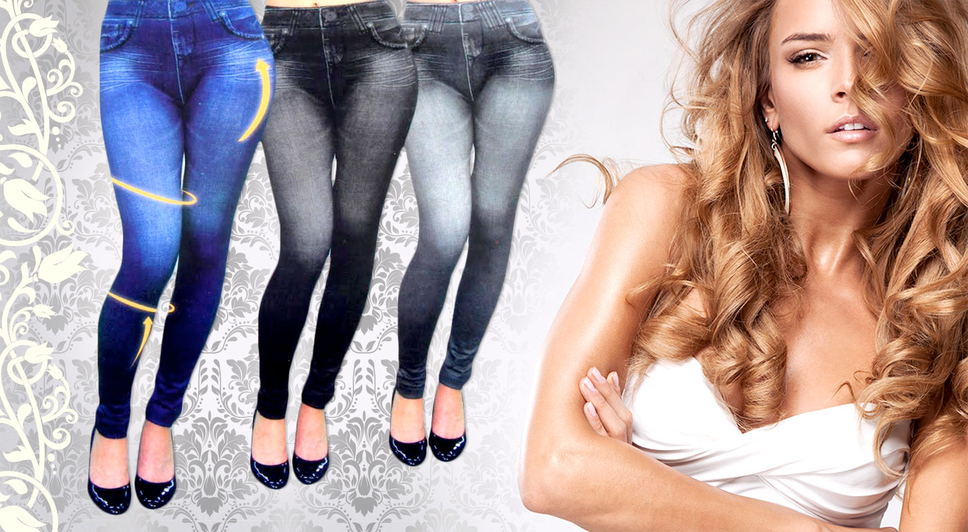 b67c50ea736 Zvodné zoštíhľujúce džínsové legíny - buďte príťažlivá a ukážte svoje  krivky! V ponuke aj termolegíny