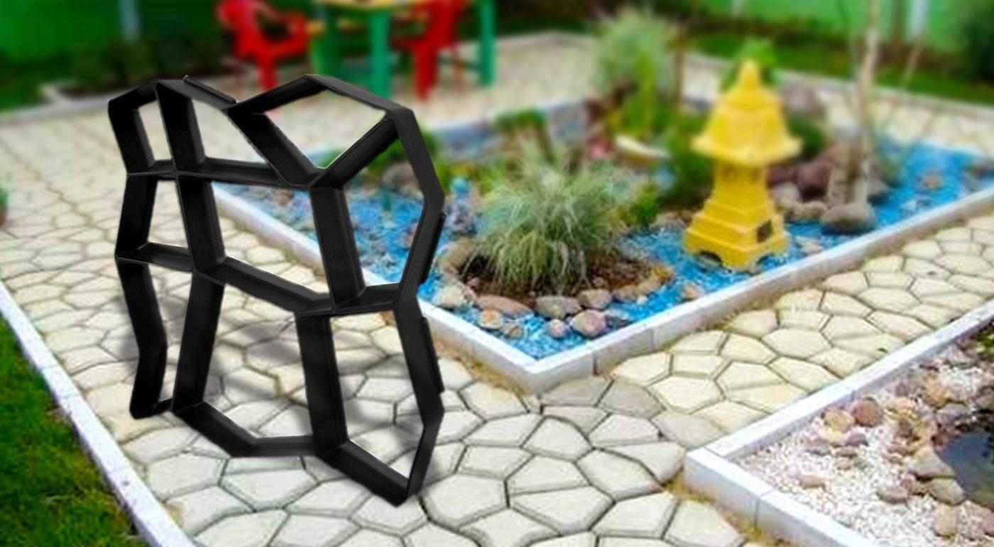 Forma na betónový chodník do vašej záhradky