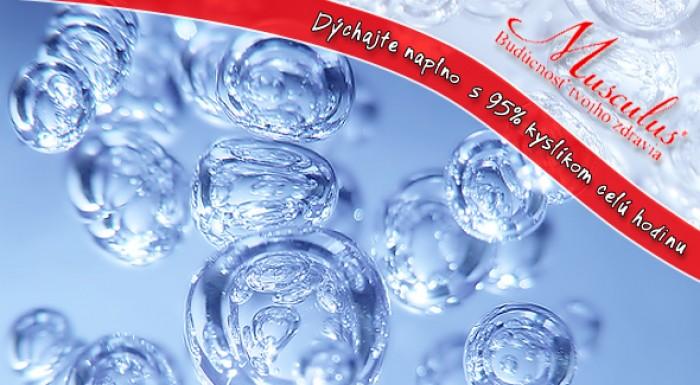 Hodinová oxygenoterapia s 95% kyslíkom. Darujte svojim bunkám sviežosť.