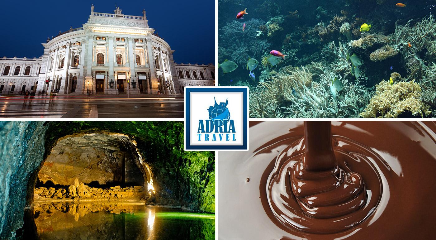 Návšteva svetoznámej rakúskej čokoládovne, jaskynného jazera a Domu morí vo Viedni