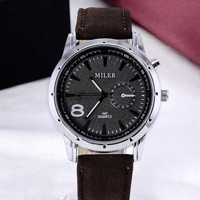 f54fc36e7 Pánske hodinky značky MILER - hnedé