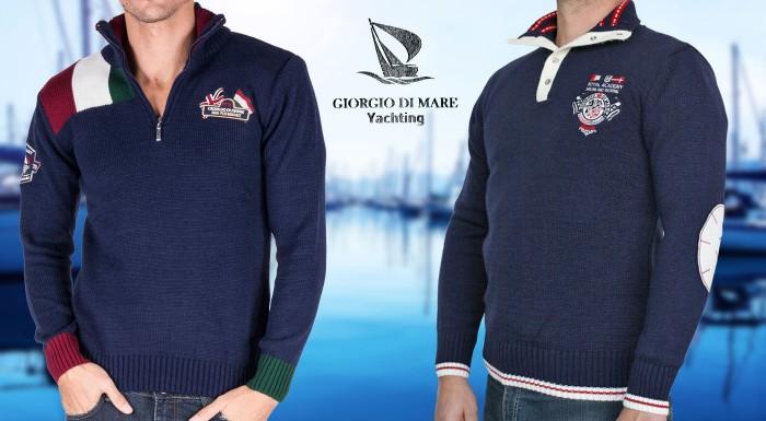 Fotka zľavy: Pánske svetre luxusnej značky Giorgio Di Mare s dlhoročnou tradíciou len za 59 €. Elegantný, športový dizajn z vás urobí skutočného pána! Vyberte si z 2 modelov tej najvyššej kvality. Poštovné zdarma!