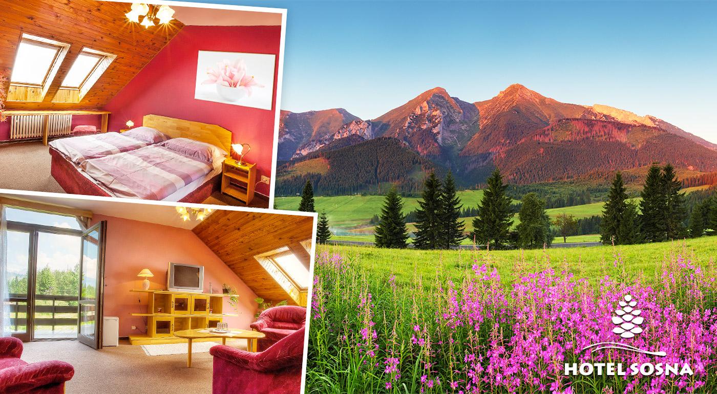 Fotka zľavy: Zdravý horský vzduch a krásna prírodná scenéria Vysokých Tatier - doprajte si oddych v Hoteli Sosna na 3 dni len za 37 € s polpenziou a balíkom zliav.