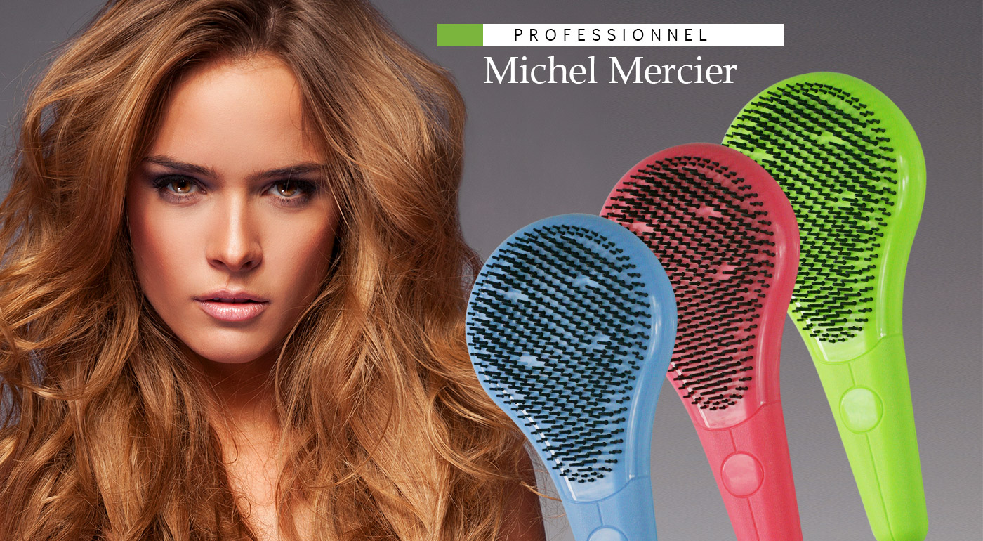 Revolučná kefa Michel Mercier pre jemné aj husté vlasy