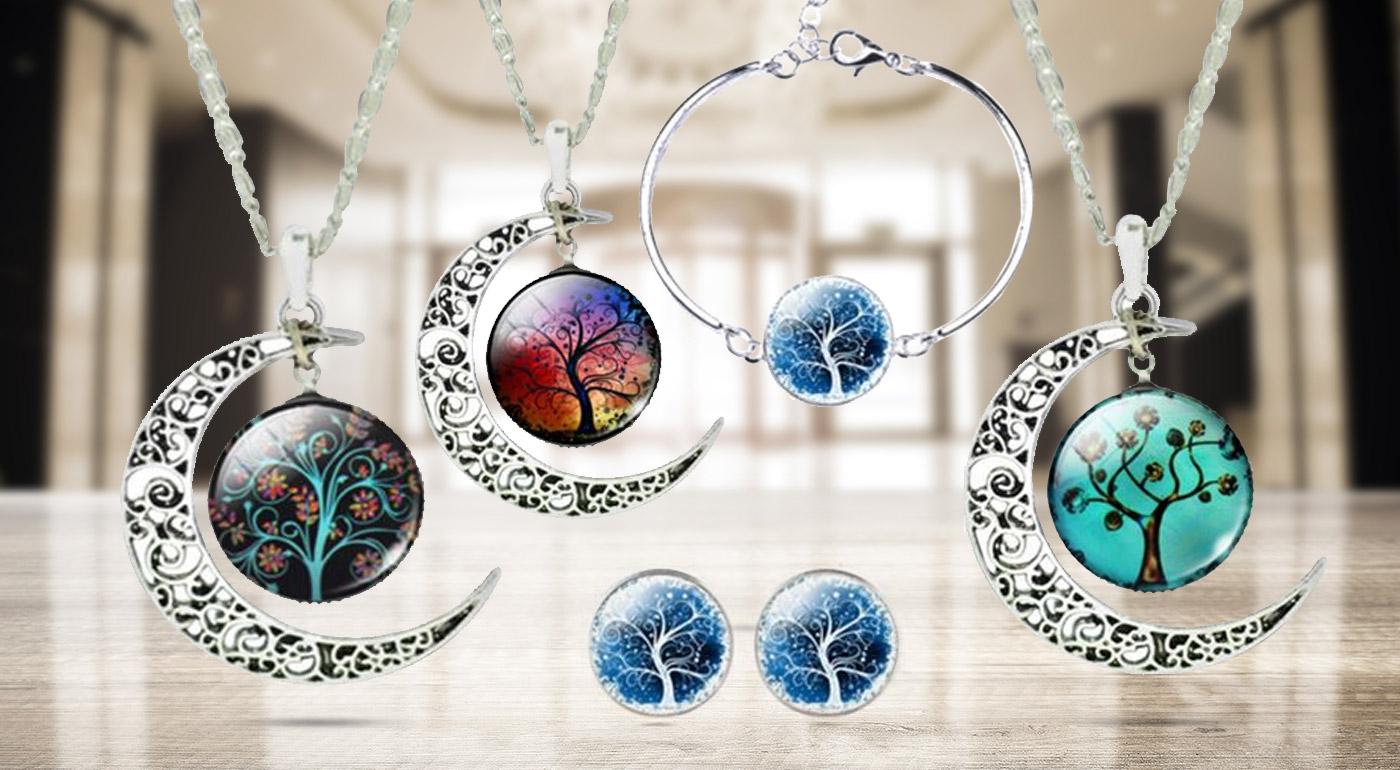 Pútavý set šperkov Strom života