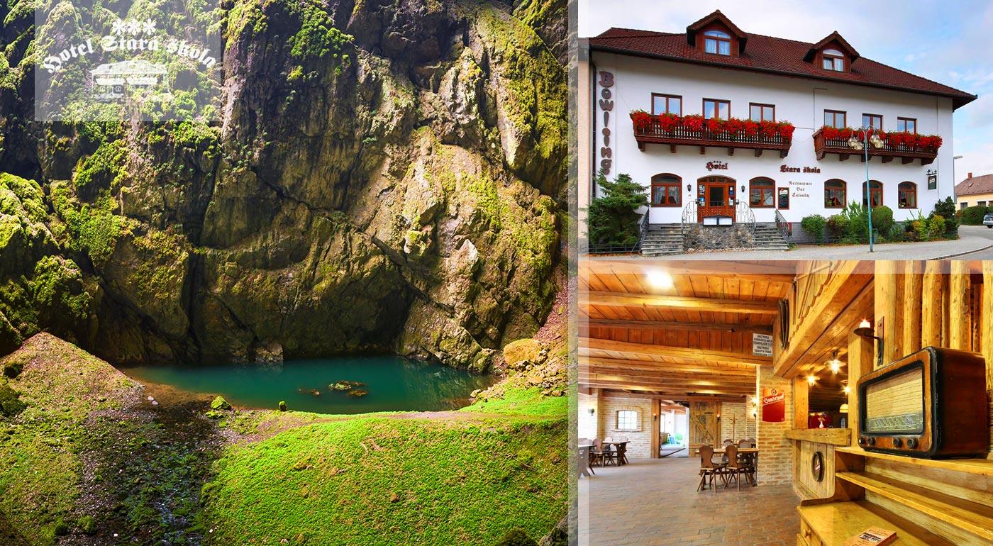 Ideálna dovolenka v Moravskom krase v Hoteli Stará škola***