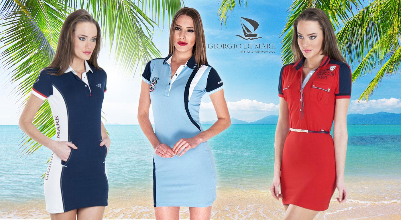 Dámske šaty s krátkym rukávom od Giorgio Di Mare - vyberte si až z 10 modelov s poštovným zadarmo!