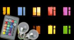 Zľava 72%: Váš byt nemusí svietiť len na žlto. Môžete ho rozsvietiť na modro, ružovo, červeno... Jednoducho poprepínate až 16 farieb s diaľkovým ovládaním na úspornú žiarovku len za 6,90 €!