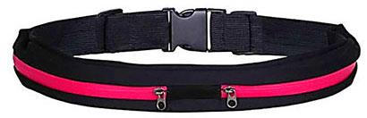 Športový pás s úschovným priestorom - ružový