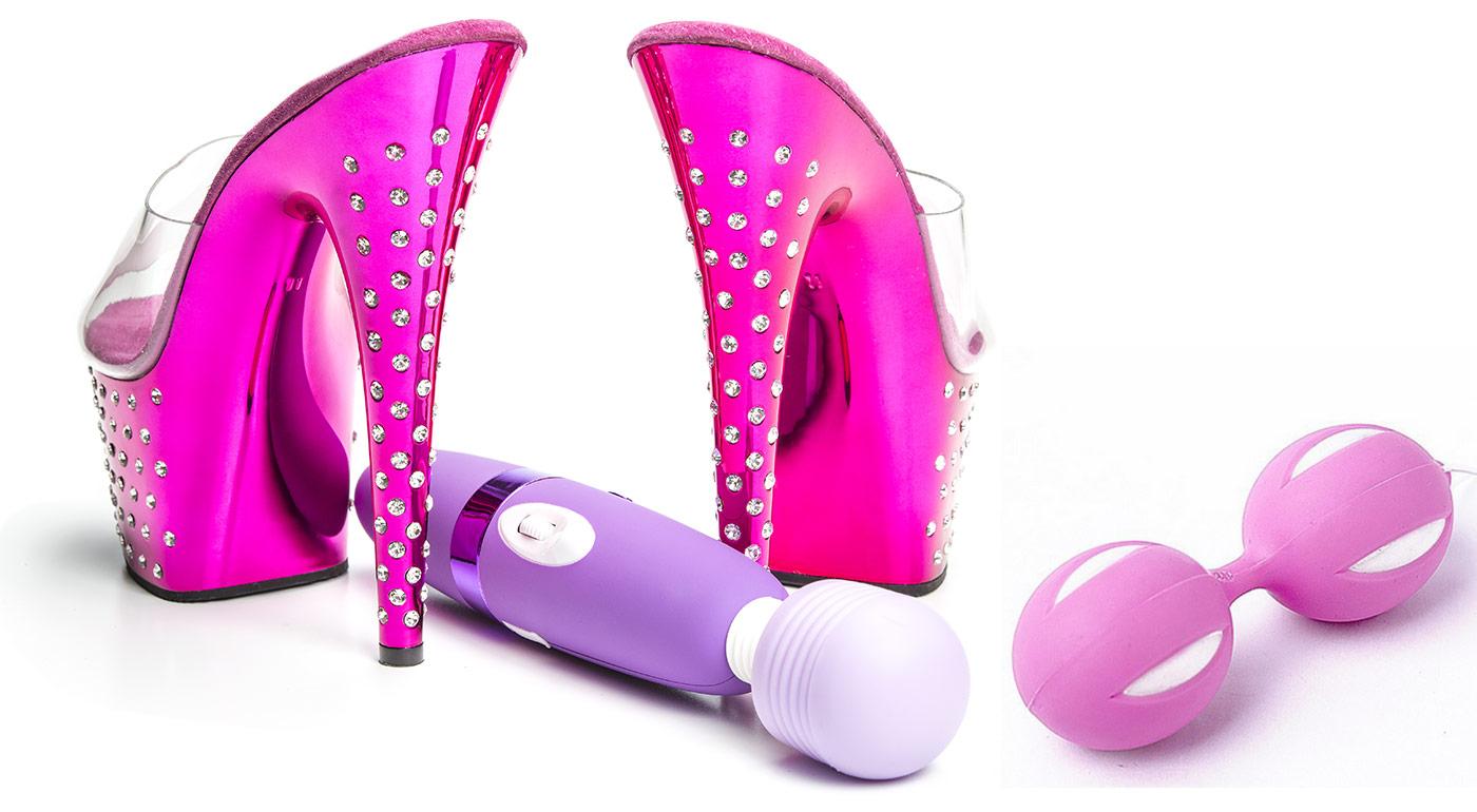 Vzrušujúce erotické pomôcky - Venušine guličky, vibrátor G-spot Snap alebo G-spot Love a masážne vibračné hlavice LIBO