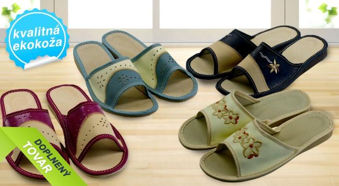 Fotka zľavy: Dámske papuče s otvorenou špičkou