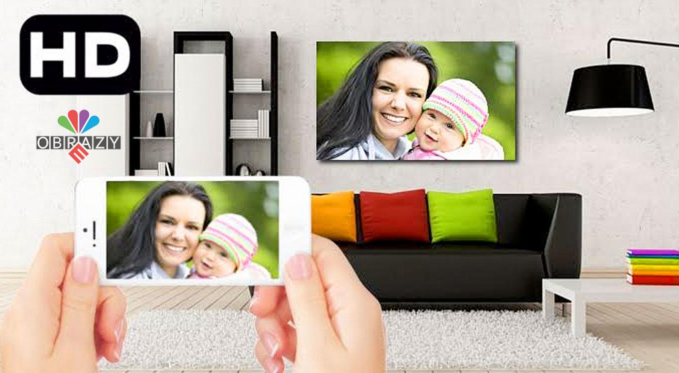 HD obraz na plátne vyrobený z vašej vlastnej fotografie
