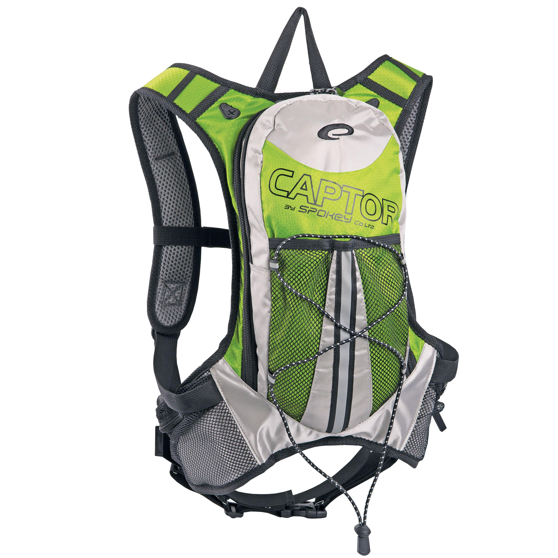 Captor cyklistický batoh zeleno-strieborný