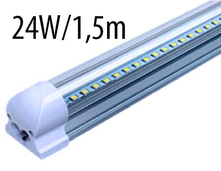 T8 LED trubicové svietidlo 24 W / 1,5 m, studená biela