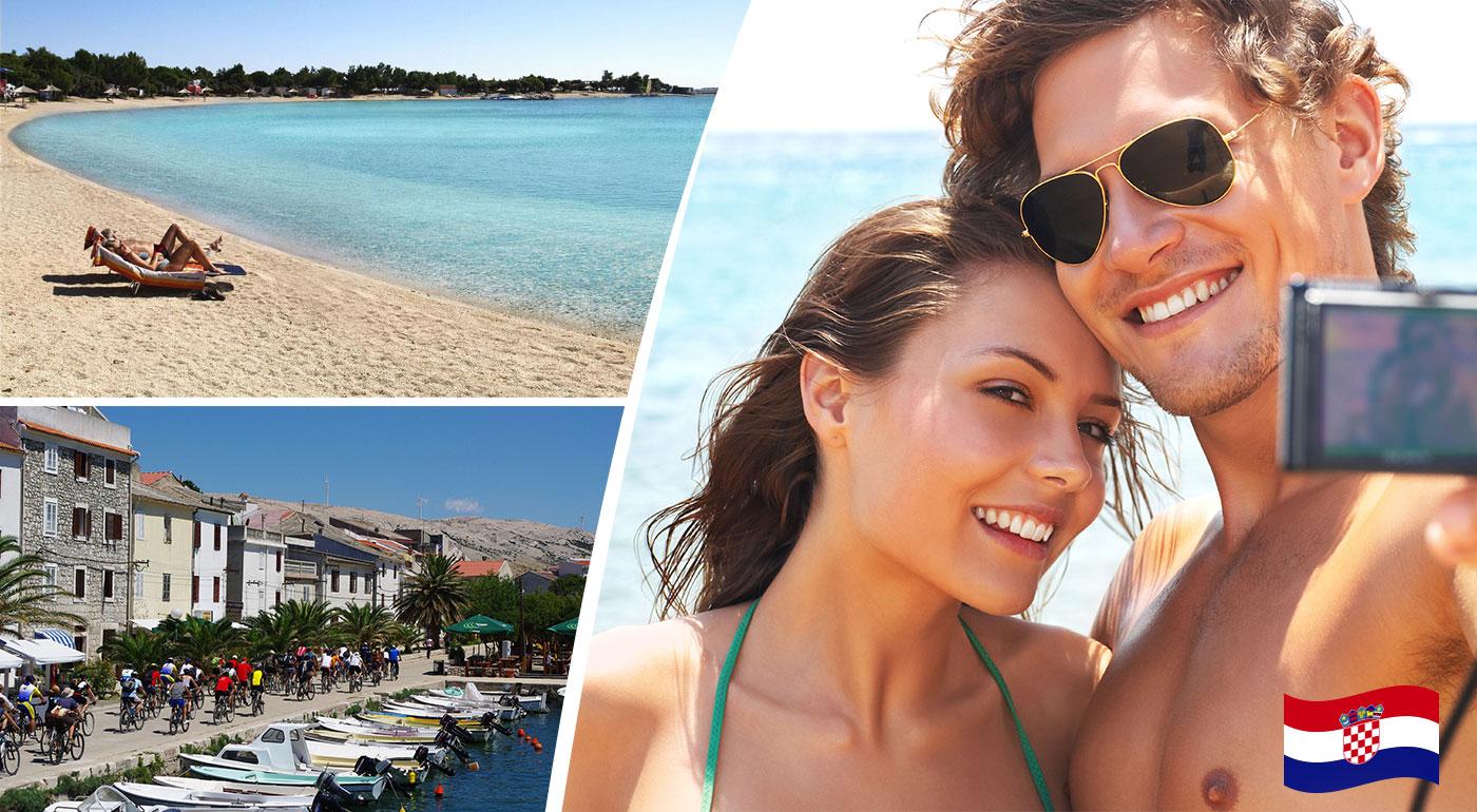 Letná dovolenka na chorvátskom ostrove Pag v Penzióne Trebam Odmor