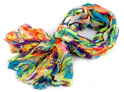 Dámsky šál krčený: farebná multicolor