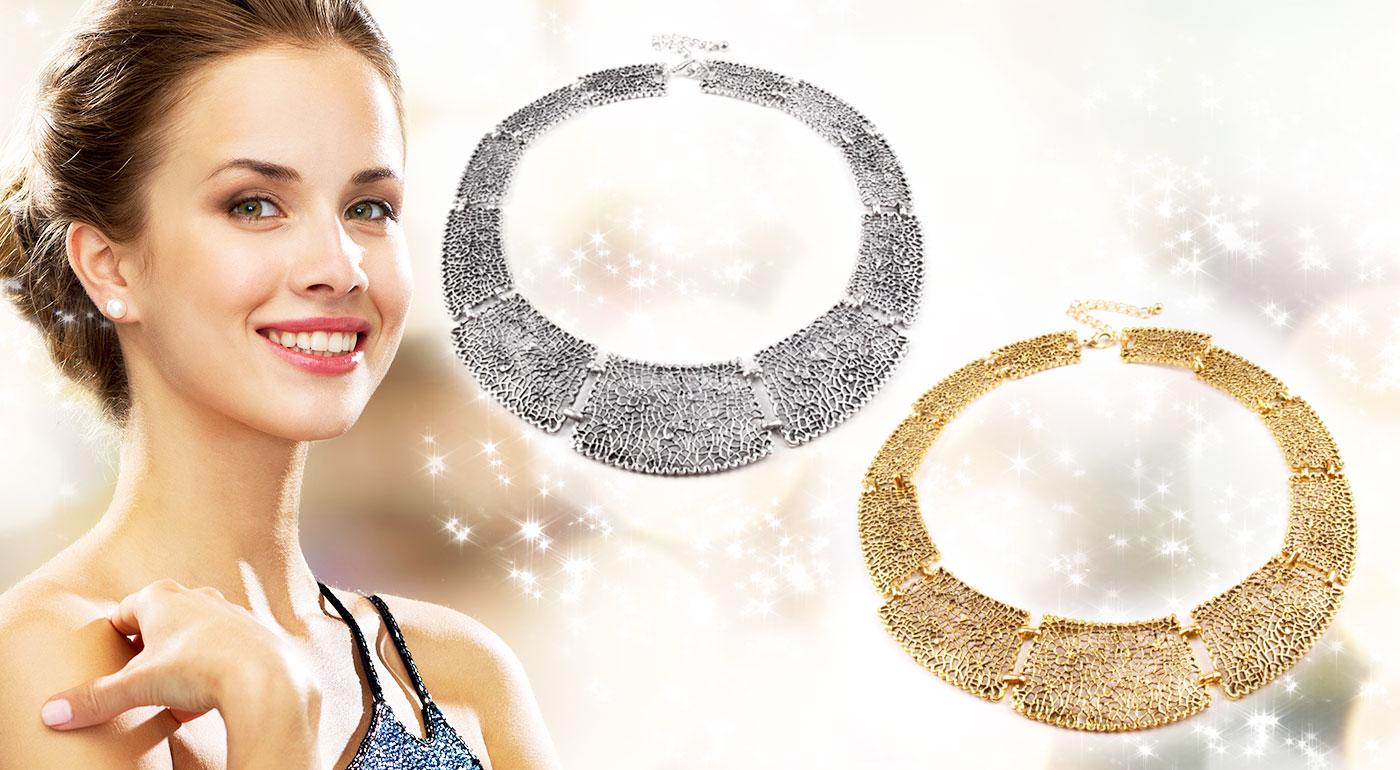 Trendy kovové náhrdelníky v dvoch farbách