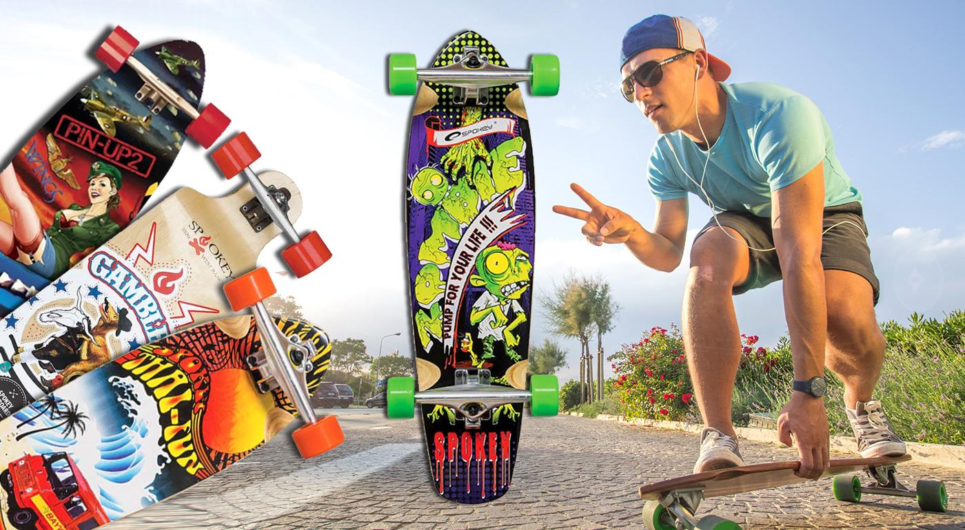 Štýlové longboardy s prepracovaným dizajnom - na výber 4 modely