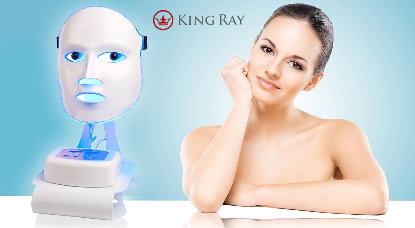 Omladzujúca fotónová maska s LED technológiou pre hladkú pleť bez vrások