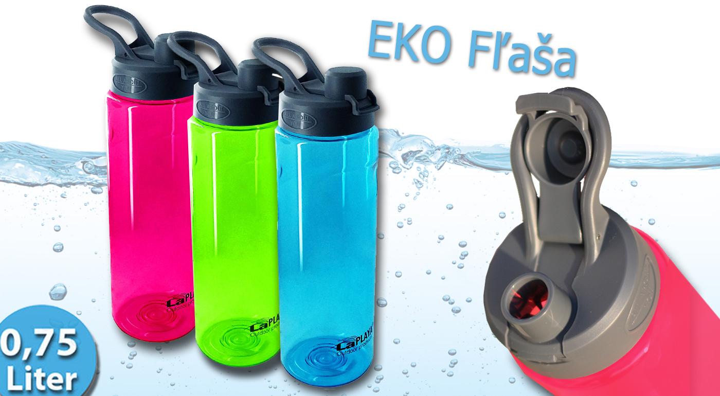 Trendy športová EKO fľaša na pitie v 3 farbách