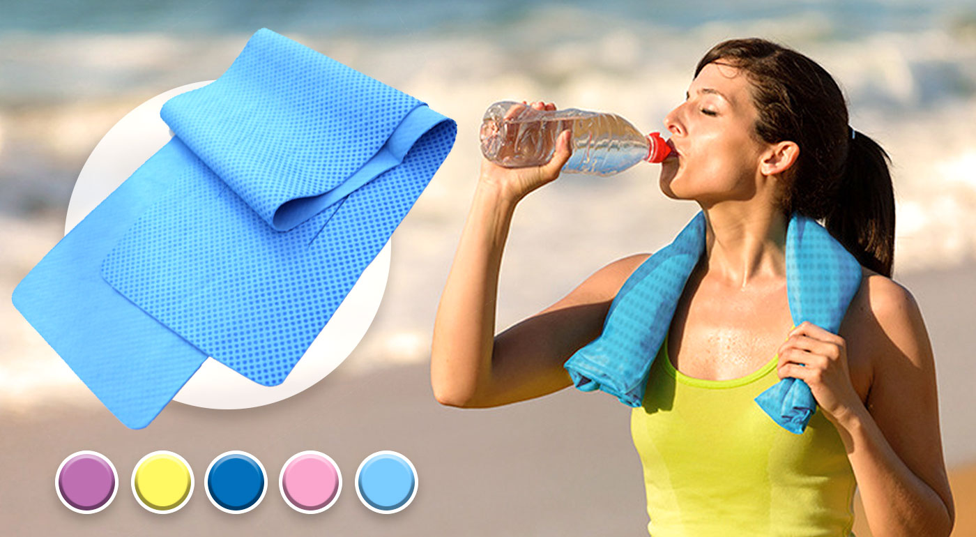 Rýchle a účinné schladenie uterákom s chladivým účinkom po dobu 2 hodín!