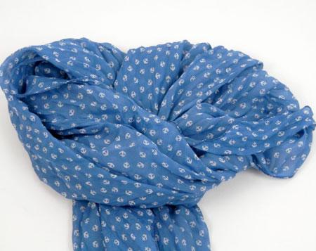 Šatka v námorníckom štýle - modrá