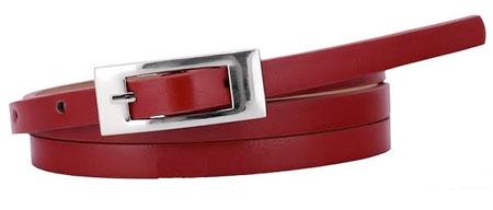 Dámsky opasok - červený