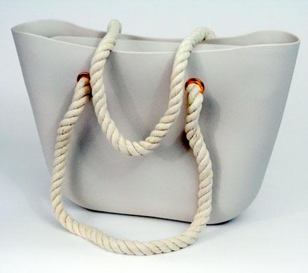 Dámska silikónová taška - béžová
