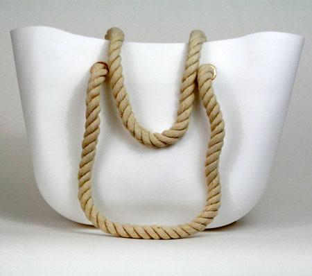 Dámska silikónová taška - biela