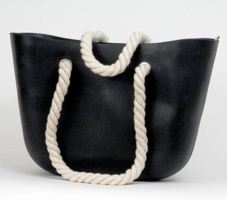 Dámska silikónová taška - čierna