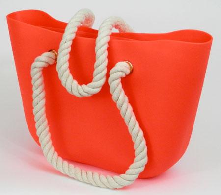 Dámska silikónová taška - oranžová