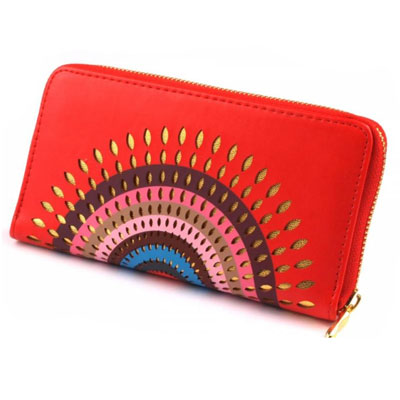 Peňaženka Mandala - červená