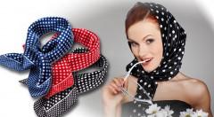 Zľava 46%: Oživte svoj outfit so štipkou vtipu a šarmu! Veselý a tak trochu elegantný doplnok v podobe krásnej bodkovanej šatky až v 6 farbách len za 1,90 €!