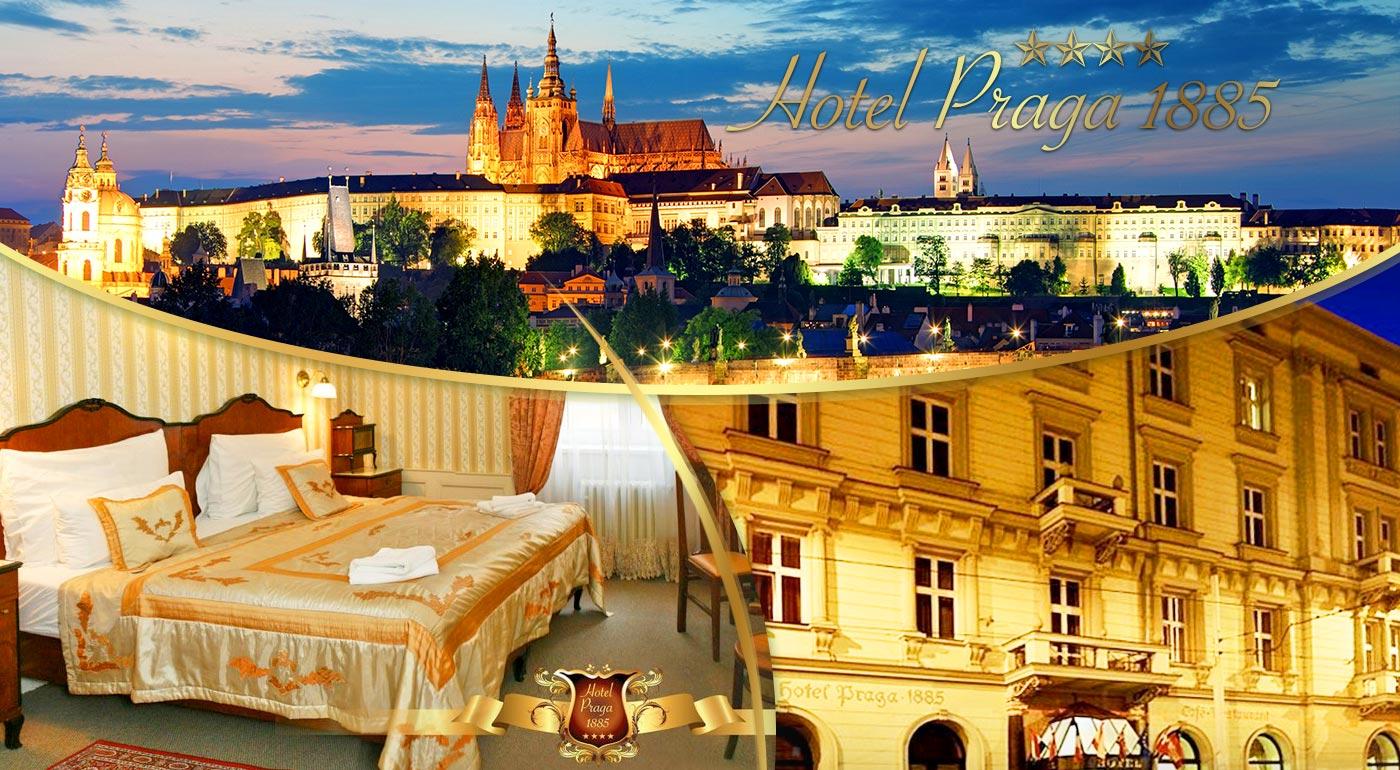 Fotka zľavy: Spoznajte všetky krásy Prahy a ubytujte sa v luxusnom historickom Hoteli PRAGA 1885**** už od 53,90 € pre dvoch. Variant aj s romantickým obedom alebo večerou na lodi po Vltave.