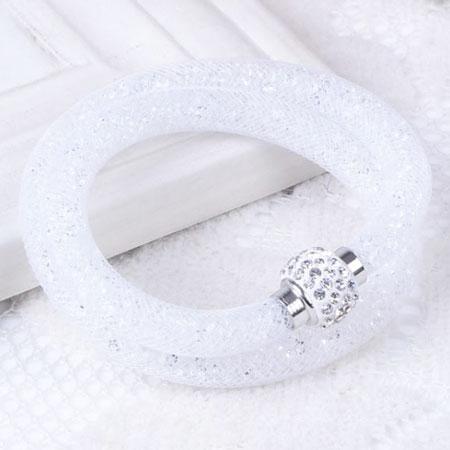 Dámsky dutinkový náramok - biely