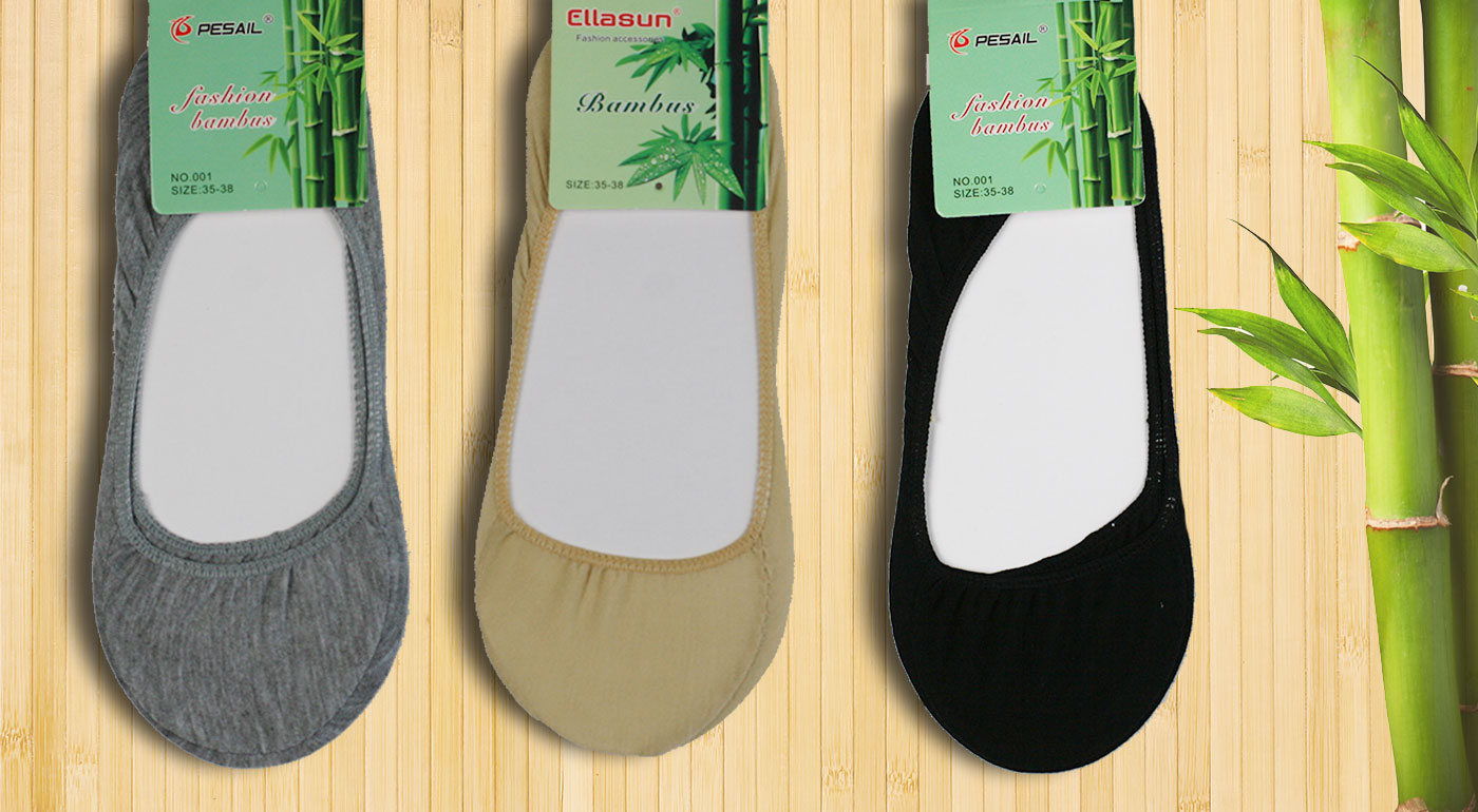 Dámske bambusové ponožky do balerínok - 5 párov v balení