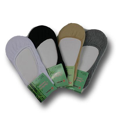 Dámske bambusové ponožky do balerínok - 5 párov - mix farieb