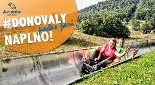 Zľava 50%: FunAréna Donovaly - spiatočný lístok na lanovku TELEMIX len za 6 € vrátane vzrušujúcej jazdy na bobovej dráhe! Vyvezte sa na Novú hoľu a kochajte sa krásnym výhľadom na panorámu Nízkych Tatier!