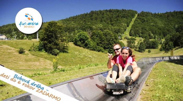 Fotka zľavy: FunAréna Donovaly - spiatočný lístok na lanovku TELEMIX len za 6 € vrátane vzrušujúcej jazdy na bobovej dráhe! Vyvezte sa na Novú hoľu a kochajte sa krásnym výhľadom na panorámu Nízkych Tatier!