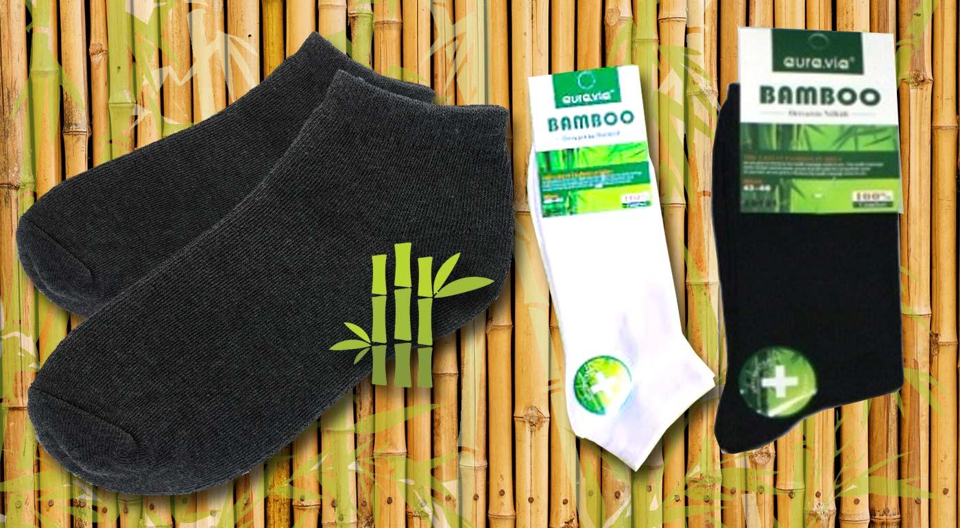 Členkové a klasické bambusové ponožky – vyberte si výhodné balenie v bielej alebo čiernej farbe