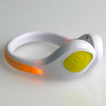 LED bezpečnostné svetlo na topánky: biely klip + žlté svetlo