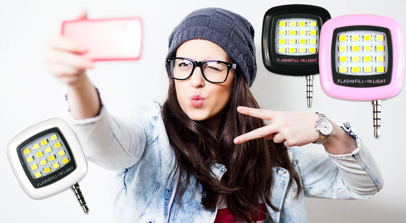 Perfektné nočné fotky vykúzlite jedine s dobrým osvetlením. Vďaka LED osvetleniu na mobil len za 5,90 € sa budete môcť pochváliť tými najkrajšími selfie! Svetlo s 3 intenzitami svetla v 3 farbách!