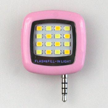 Smarphone LED selfie svetlo na nočné fotky - ružové