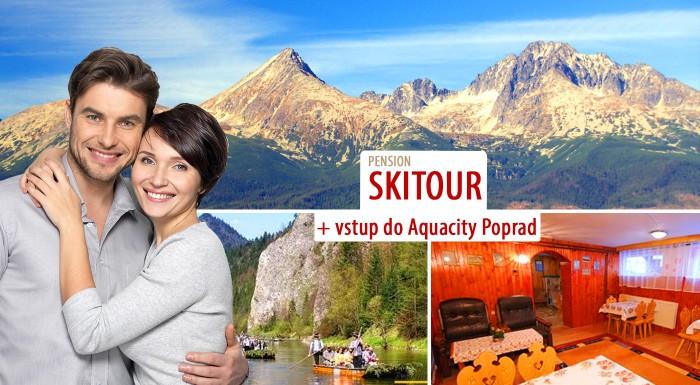 Fotka zľavy: Doprajte si aktívny relax vo Vysokých Tatrách - 3 alebo 4 dni v Penzióne Skitour**+ už od 45 €. Na výber varianty s celodenným vstupom do Aquacity Poprad, splavom Dunajca alebo rovno oboma!